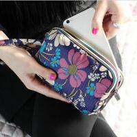 Large Capacity 3 - Layer Zipper Girls Handbags Clutch Purse Women Floral Wallet