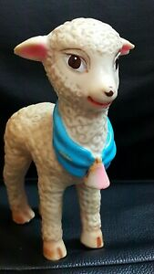VINTAGE SHEEP LAMB DOLL TOY 60's US ARADENCA ROMANIA RUBBER FIGURINE 16.5 cm