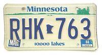Minnesota 1988 Vinage License Plate Garage Old Car Tag Man Cave 10,000 Lakes