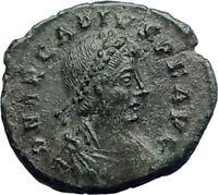 ARCADIUS 383AD  Original Ancient Roman Coin Military Camp Gate i74243