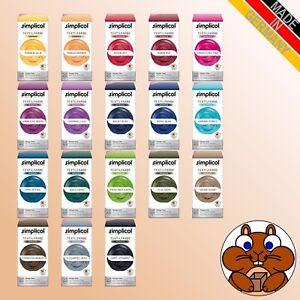 SIMPLICOL Textilfarbe intensiv all-in vers. Farbtöne Färben / Batiken DIY