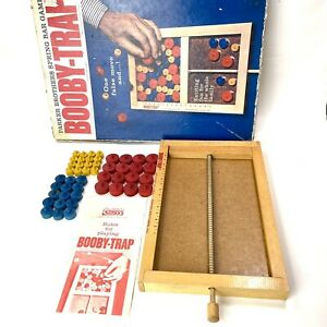 Vintage Booby-Trap 1965 Parker Brothers Spring Bar Game w Instructions