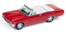 1/64 JOHNNY LIGHTNING 1965 Chevrolet Impala Convertible in Rally Red