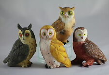 OWL MODELS, Set of 4 assorted, Wonderful Collection, Great Gift for Bird Lovers