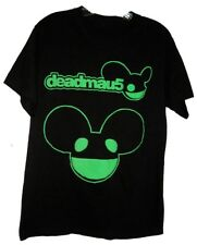 "HTF Deadmau5 DJ Black w/ Puffy Foamy Bright Green Graphics Shirt EPIC 40"" Chest"