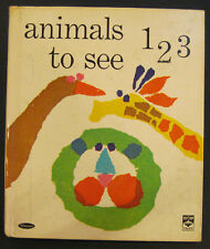 ANIMALS TO SEE 123   Whitman Top Top Tales Patricia Martin Zens 1964 counting VG