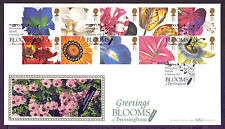 Handstamped Flowers Used British First Day Covers