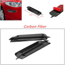 Auto Car Side Air Flow Vent Fender Cover Intake Grille Sticker Carbon Fiber New