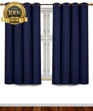 "Top Navy Blackout Curtains 2 Panel Darkening Room Window Grommet Drapes 52x63"""