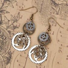 Steampunk Earrings Antique Bronze Gears Jewelry Fashion Jewelry
