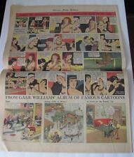 1943 WWII Newspaper Rare DEATHLESS DEER Large Color Comic Strip Chicago Tribune