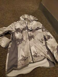 Adidas track hoodie, Camo hoodie, grey camo Medium size