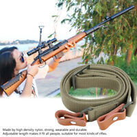 Tactical 2 Point Gun Sling Shoulder Strap Rifle Hunting Shotgun Belts Outdoor
