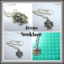 Religious Jesus Necklace,Cross,Religion,Long Chain,Gift Idea,Fashion/Costume