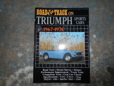 Road and Track on Triumph Sports Cars 1967-74 Brooklands Books Signed Barry Lake