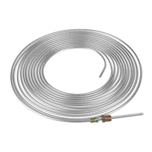 25Ft Car Brake Line Tubing Kit 3/16in OD Zinc Plated Steel Coil w/16pcs Fittings