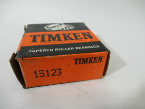 """Timken 15123 Tapered Roller Bearing Cone 1.250""""ID 0.7500""""W ! NEW !"""