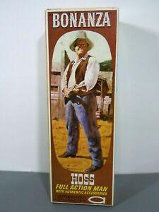 Vintage Rare 1966 Big Hoss Cartwright Bonanza Action Figure w/ Box & Accessories