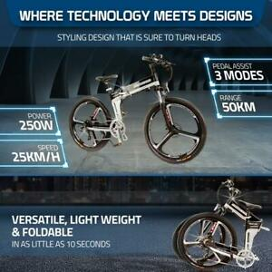 """SuperZ 26"""" E-bike Bicycle Foldable Ebike  250W LG Lithium Battery Electric bike"""