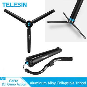 TELESIN Aluminum Alloy Collapsible Tripod For GoPro Hero 9 8 7 6 DJI Osmo Action