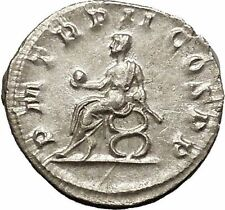 Philip I the Arab seated on curule chair Rare Silver Ancient  Roman Coin i52055