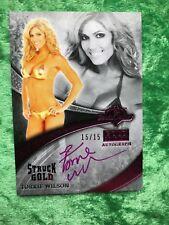 2013 Benchwarmers Gold Edition Struck Gold Pink Autograph Torrie Wilson 15/15
