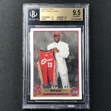 2003-04 Topps LEBRON JAMES Rookie BGS 9.5 #221