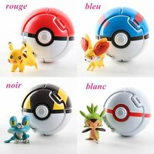 4pcs TOMY Pokemon Go Pikachu Throw N Pop Poke Ball Action Figures Doll Kids Toy