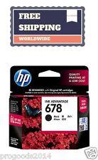 HP 678 Genuine Inkjet Printer Cartridge Black Color Deskjet Brand New Authentic