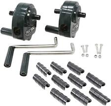 Deluxe Greenhouse Ventilation Kit, 2 Hand Cranks And 10 Flim Clips