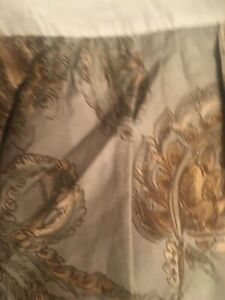 Ralph Lauren Chaps Cold Spring Home Queen Blue Gray Floral Paisley  Bed Skirt