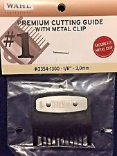 """WAHL PREMIUM CUTTING GUIDE WITH  NON SLIP METAL CLIP # 1 ,1/8"""" 3,MM # 3354-1300"""