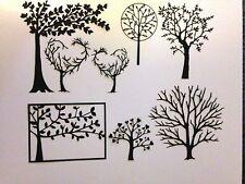 8 die cut arbres. idéal pour carte-making, scrapbooking, boîte de cadres, etc.