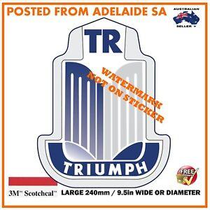 VINTAGE TRIUMPH  / TR /  TR2 TR3 TR4 TR6 VANGUARD DECAL STICKER LABEL 240mm DIA