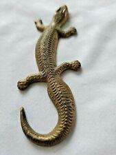 vtg. Brass Lizard/Gecko made in Thailand, Fine Detailing