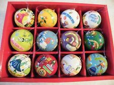 Crate & Barrel - 12 Days Of Christmas Ornament Set    FREE SHIP