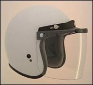 FLIP UP CLEAR VISOR FOR OPEN FACE JET STYLE HELMETS RS-04 V500