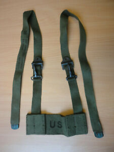 US MILITARY CANVAS FELD PACK STRAP MONTAGE BUTT PACK ADAPTER DATUM 1966 DSA 100