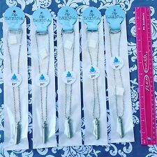 """SET OF 5 STAINLESS ESSENTIAL OIL DIFFUSER NECKLACES AROMATHERAPY OILS 21"""""""