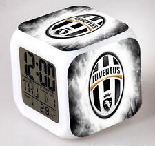 Réveil numerique Digital JUVENTUS Cube à effet lumineux alarme football