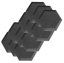 Acoustic Foam Tiles Hexagon Bevel x12 Noise Reduction Panels Studio Sound