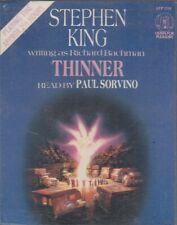 Stephen King Thinner 2 Cassette Audio Book Richard Bachman Horror Abridged