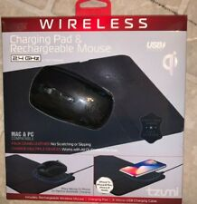 Tzumi Wireless Charging Pad & Rechargeable Wireless Mouse w/Built-in Qi Charging