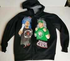 John Cena CM Punk Hoodie Sweatshirt Black WWE Wrestling Youth Small 6/7 Boys