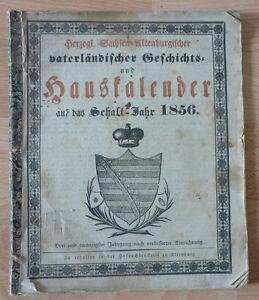 Kalender, herzogl. Sachsen-Altenburgischer Hauskalender auf das Schalt-Jahr 1856