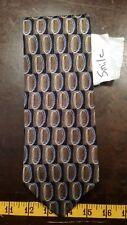 Siena Brown Black Oval Silk Designer Mens Tie Necktie Free Shipping