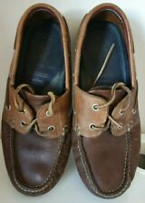 Mens Brown Boat Shoes Size 7 Leather