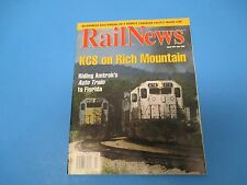 RailNews Magazine, July 1997, KCS On Rich Mountain, Riding Amtrak's Auto Train