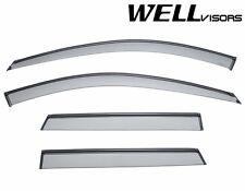 WellVisors For 06-13 Audi A3 BLACK Trim Side Window Visors Rain Guard Deflectors