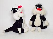 Gatto Silvestro 2 Peluche Looney Tunes Warner Bros 1999 soft toys VTG plush-001Q